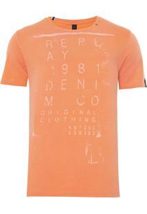 Camiseta Masculina Denim - Laranja