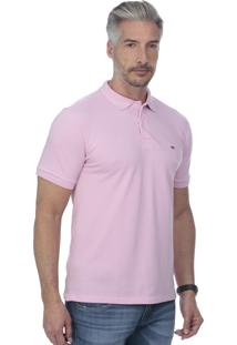 Camisa Polo Javali Bordado Rosa
