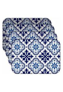 Jogo Americano Love Decor Ladrilho Blue Kit Com 4 Peças