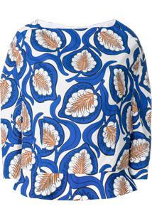 Marni Blusa Peplum - Azul