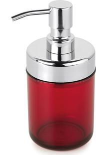 Dispenser Sabonete Líquido Acquaset Vermelho Forma