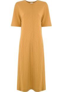Osklen Vestido Rustic Fit Canelado - Amarelo