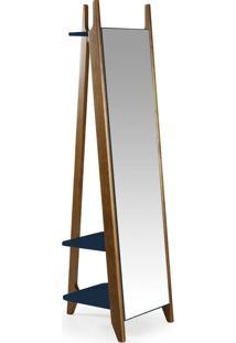 Espelho Stoka 169,5 Cm 988 Nogal/Azul Noite - Maxima