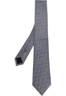Versace Gravata Bordada - Grey