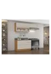 Cozinha Compacta Inova 4 Pt 4 Gv Off White E Freijó