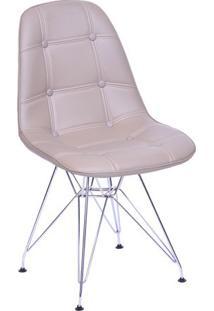 Cadeira Eames Botonãª- Fendi & Prateada- 83X44X39Cm