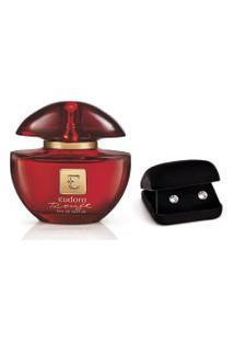 Kit Eudora Rouge Eau De Parfum + Brinco Swarovski