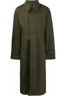 Ami Trench Coat Oversized Com Cinto - Verde