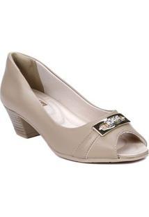 19560ad00 Peep Toe Bege Comfortflex feminino | Shoelover