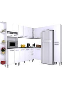 Cozinha Compacta 8 Peças Karina -Poquema - Branco