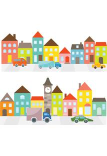 Adesivo De Parede Infantil Casas E Carros