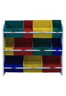 Organizador De Brinquedos Organibox - Colorido - Grande