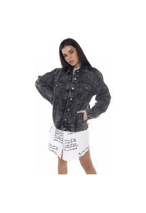 Jaqueta Jeans Denim Zero 80´S Escura
