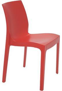 Cadeira Alice Satinada- Vermelha- 80,5X49,5X51,5Cm