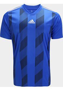 Camisa Striped 19 Adidas Maculina - Masculino-Azul+Branco
