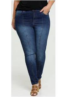 Calça Jeans Cigarrete Feminina Plus Size Uber Jeans