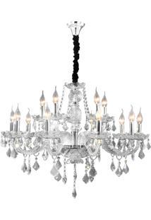 Lustre Hevvy Maria Theresa Sl-9840-H15- Cromado E Transparente