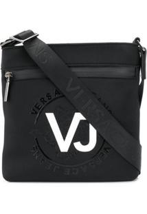 Versace Jeans Bolsa Carteiro Com Logo - Preto