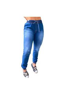 Calça Jogger Alleppo Jeans Jade Jeans Azul