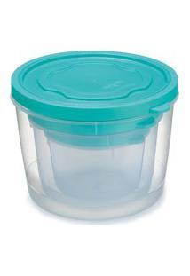 Conjunto De Pote Redondo Com Tampa Plástico 3 Peças P M G