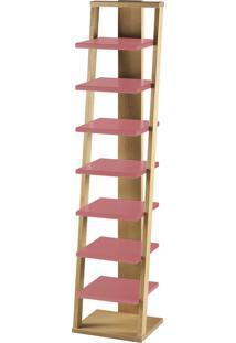 Prateleira Suspensa Stairway 1132 Palha/Rosa New - Maxima