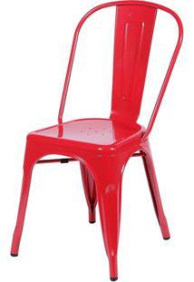 Cadeira Em Alumínio Tommy Vermelha