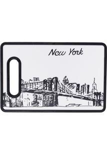 Tábua De Corte New York 20X30Cm Preta E Branca