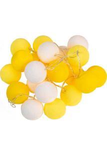 Luminária Bolas Amarelas Led