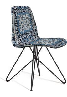Cadeira De Jantar Eames Butterfly Preto E Azul