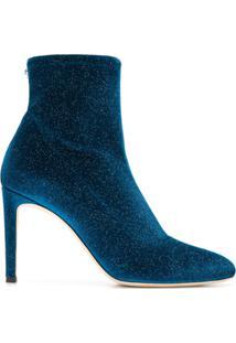 Giuseppe Zanotti Design Ankle Boot De Veludo - Azul