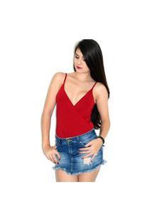 Body Up Side Wear Transpassado Vermelho