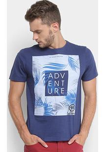 Camiseta Tigs Flamê Masculina - Masculino-Marinho