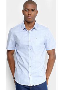 Camisa Estampada Calvin Klein Monte Carlo Manga Curta Masculina - Masculino