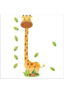 Adesivo De Parede Medidor Girafa Grudado Adesivos