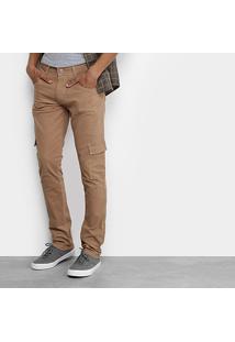 Calça Slim Biotipo Sarja Color Masculina - Masculino-Caramelo