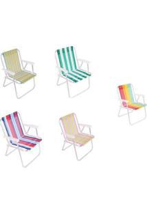 Cadeira De Praia E Piscina Alumínio E Polietileno 25500 - Unissex-Colorido