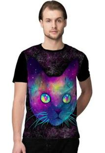 Camiseta Stompy Psicodelica3 Masculina - Masculino-Preto