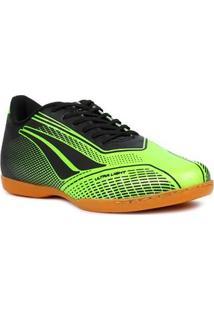 Tênis Futsal Masculino Penalty Storm Speed Indoor Verde/Preto