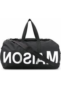 Mm6 Maison Margiela Mala De Mão Com Logo Invertido - Preto