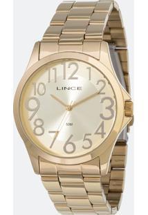 Kit Relógio Feminino Lince Lrgj081L-Kv81C2Kx Analógico 5Atm + Conjunto Semijóia