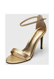 Sandália Loucos E Santos Metalizada Dourada