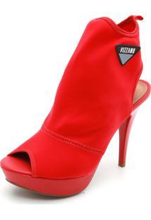 Ankle Boot Vizzano Liso Vermelho