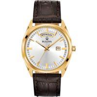 32f04bd5731 Relógio Bulova Masculino Couro Marrom - 97C106 Vivara