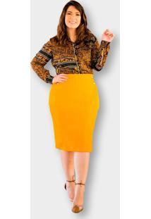 Camisa Plus Size Chiffon Lurex Kauly 2872 Estampada - Estampado - Feminino - Viscose - Dafiti