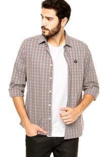 Camisa Forum Listras Contraste Preta