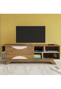 Rack Para Tv Até 60 Polegadas 1 Porta Coral Pinho/Off White - Artely