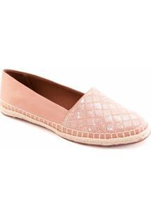 Alpargata Paetê Numeração Especial Sapato Show 390469E - Feminino-Rosa