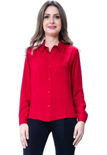Camisa 101 Resort Wear Lisa Viscose Vermelho
