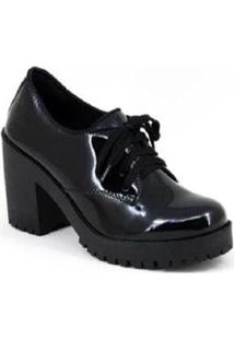 Oxford Tratorado Verniz World Boot Feminino - Feminino-Preto