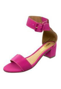 Sandalia Mariha Calçados Maxi Fivela Pink